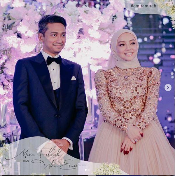 Mira filzah kahwin, Mira filzah dan wan emir, Gambar Mira filzah