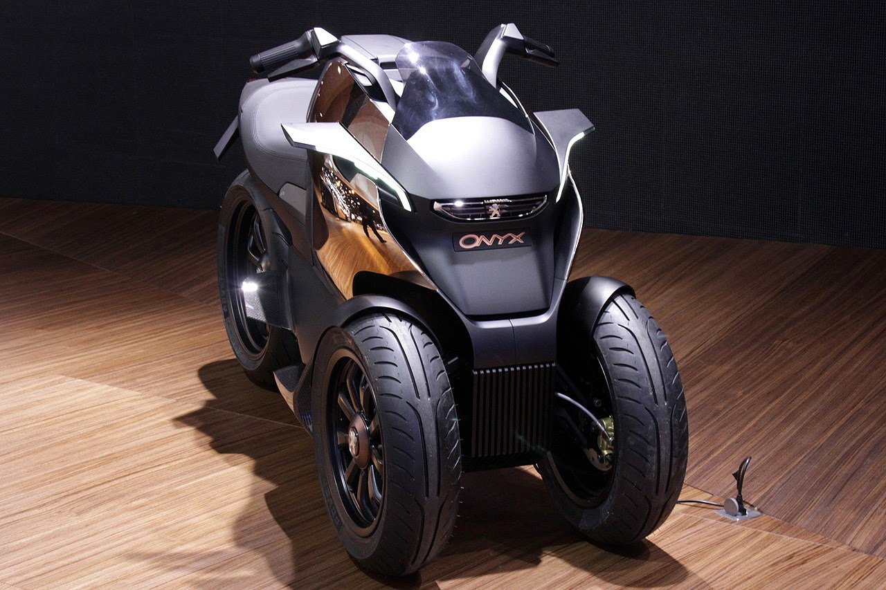 Stand Up Electric Scooter >> Tilting Vehicles Blog: Peugeot Onyx, Metropolis and Hybrid 3 Evolution Concept