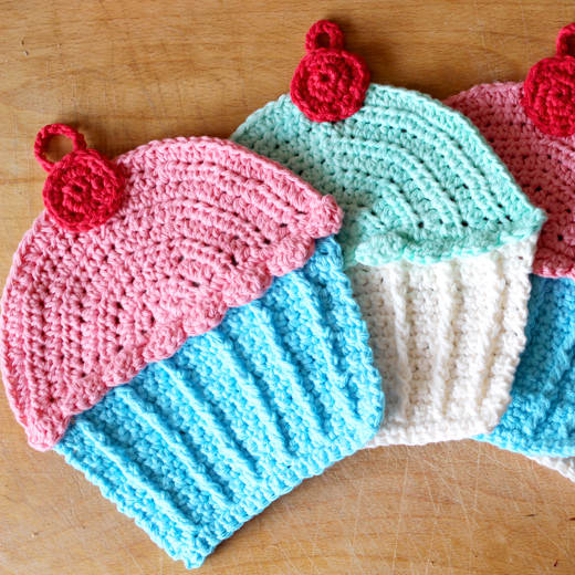 Free Crochet Pattern For Cupcake Dish Cloths Crochet Flow