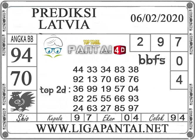PREDIKSI TOGEL LATVIA PANTAI4D 06 FEBRUARI 2020