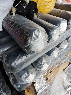thu mua vải cây poly 4 chiều màu đen