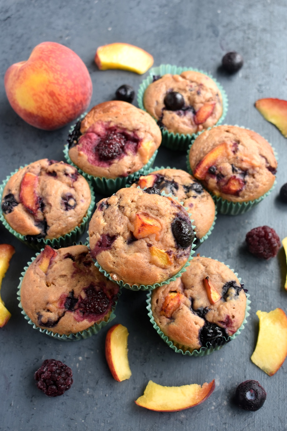 Berry Peach Muffins