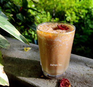 Canistel smoothie