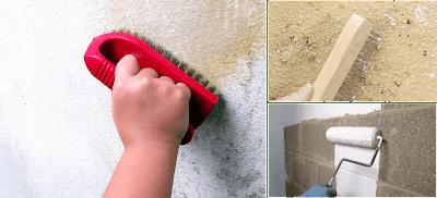 muros de cemento limpieza