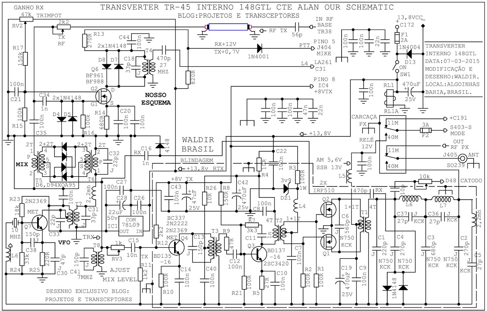 Projetos E Transceptores Transverter Tr 45 Antigo E