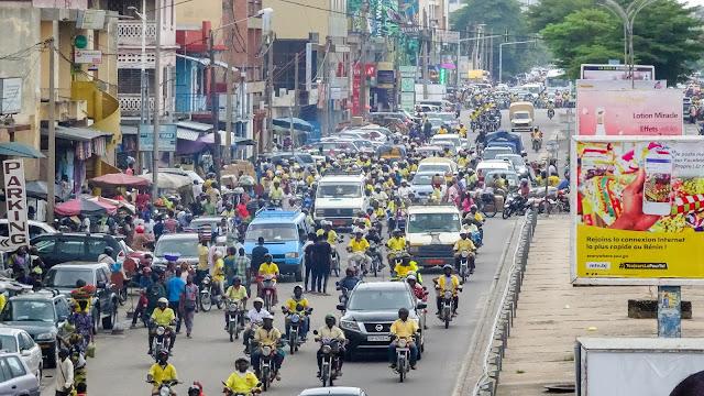 Busies road in Benin