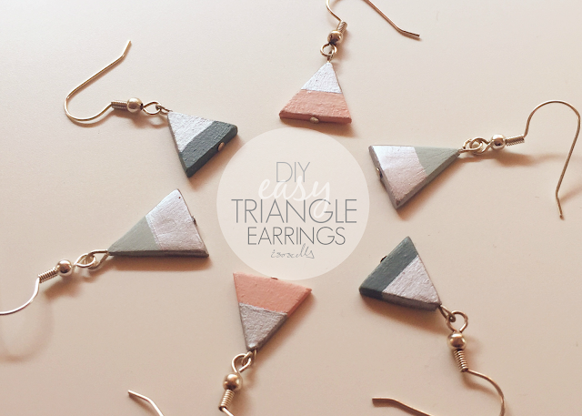 Easy clay triangle earrings how to DIY header