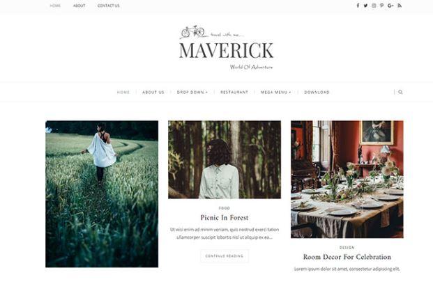 Giao diện blogger Maverick Blogger Template