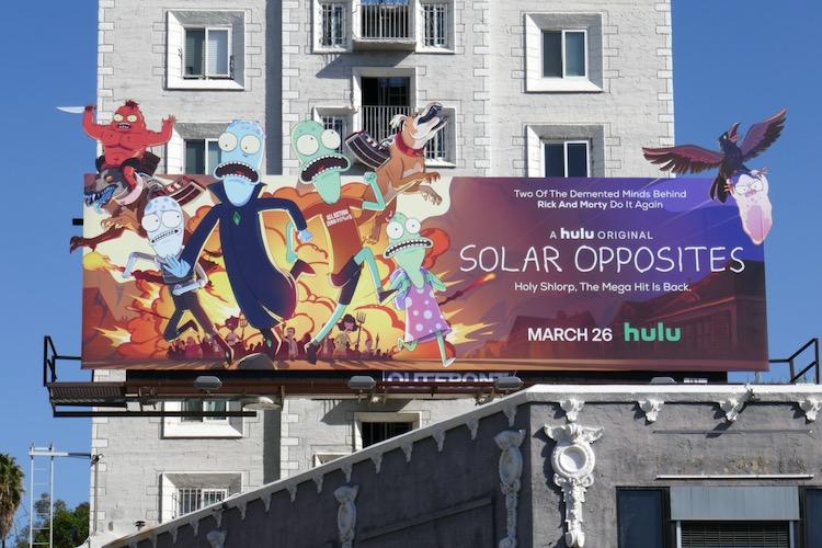 Solar Opposites season 2 Hulu billboard