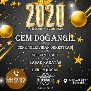 nevizade izmir yılbaşı programları konserleri rezervasyon 2020