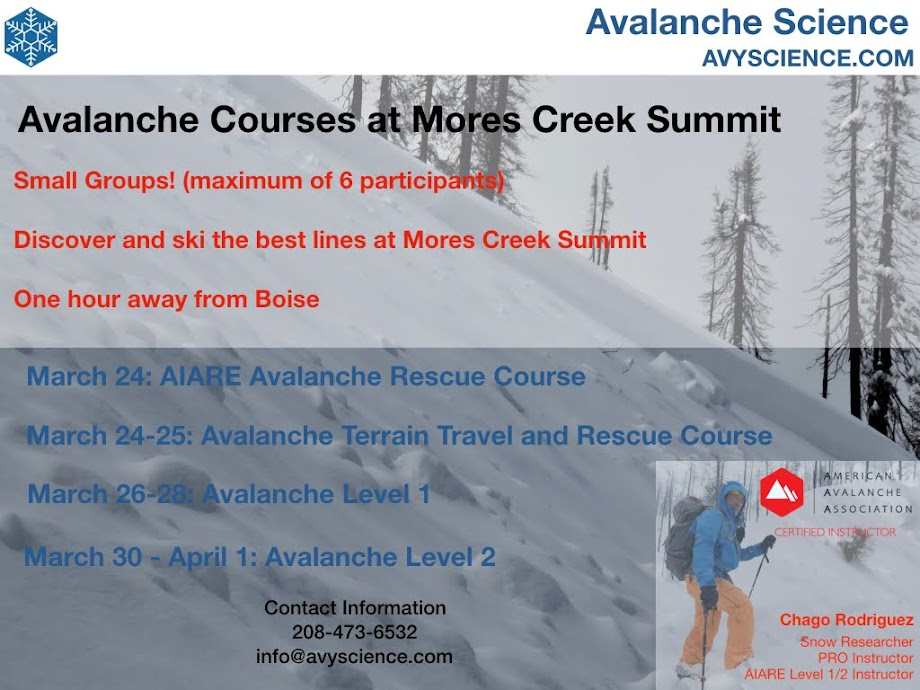 Avalanche Courses - March 2018