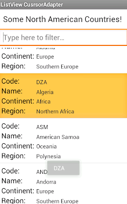Android Listview CursorAdapter SQLite Example