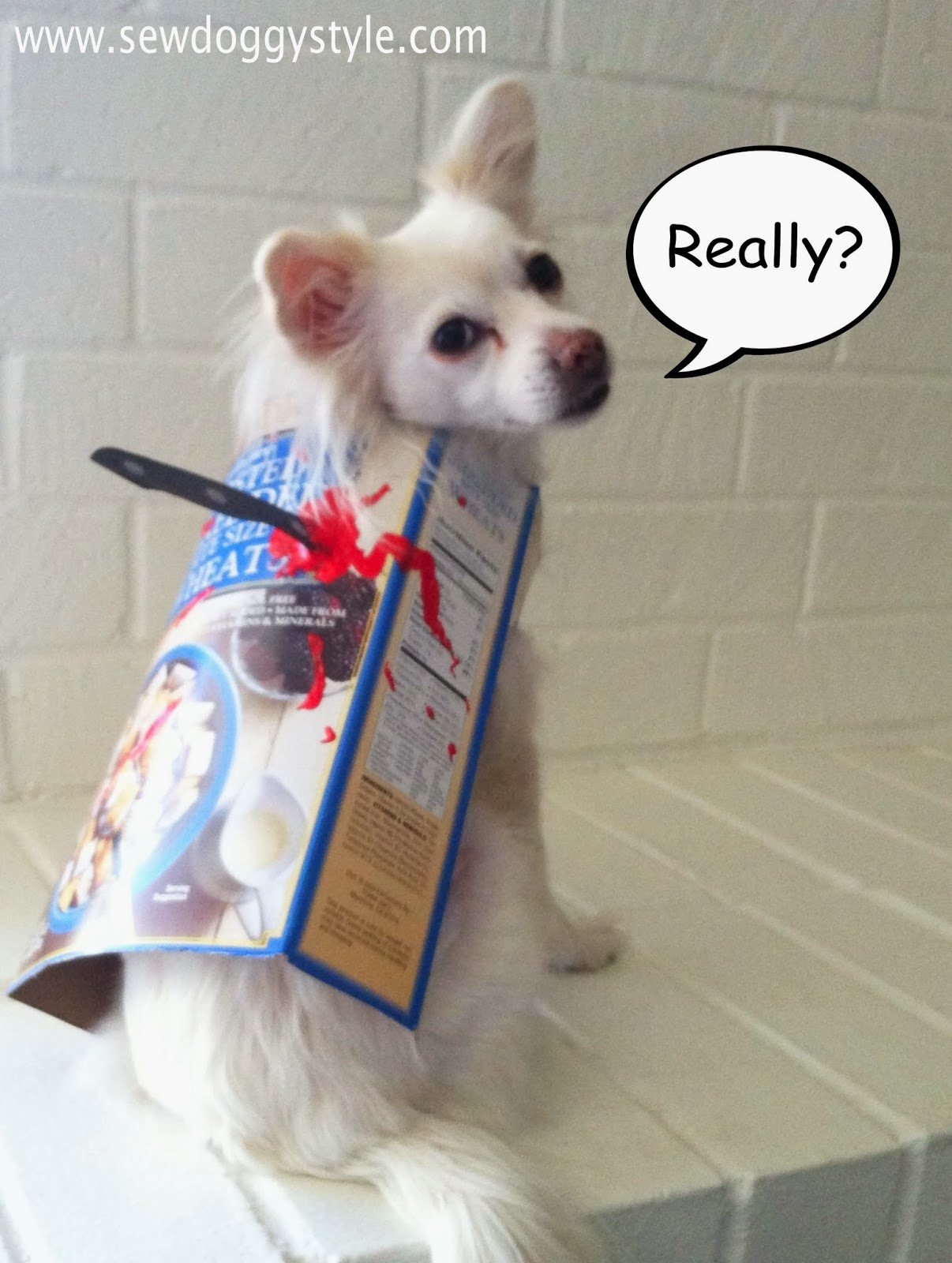 & Sew DoggyStyle: Last Minute DIY Halloween Costume - Cereal Killer!