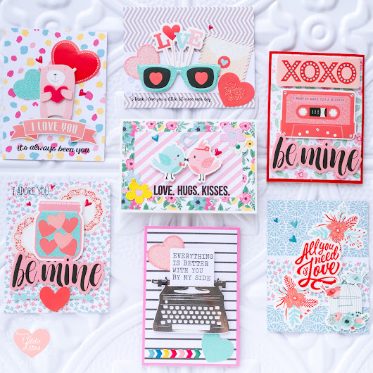 Spellbinders Card Kit of the Month for January | 7 Quick and Easy Valentine Day Cards