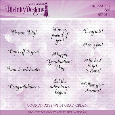 Divinity Designs Stamp Set: Dream Big