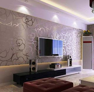 Wallpaper Dinding Ruang Tamu Minimalis Modern Terbaru