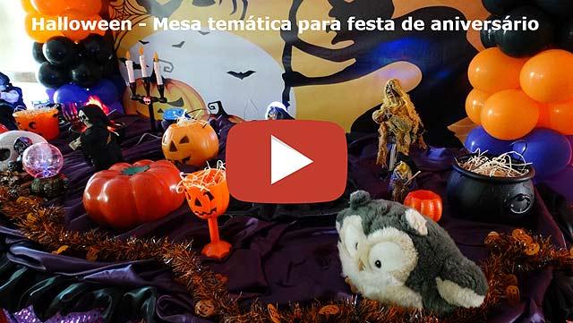 Decoração luxo para festa de adolescentes tema Halloween - Dia das Bruxas