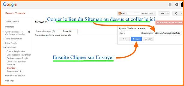 Comment Envoyer un Xml Sitemap du blog a Google Consol