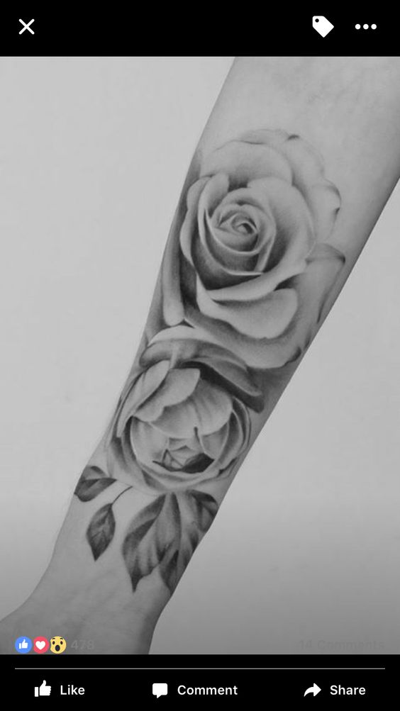 10 Stunning Rose Tattoos For Women