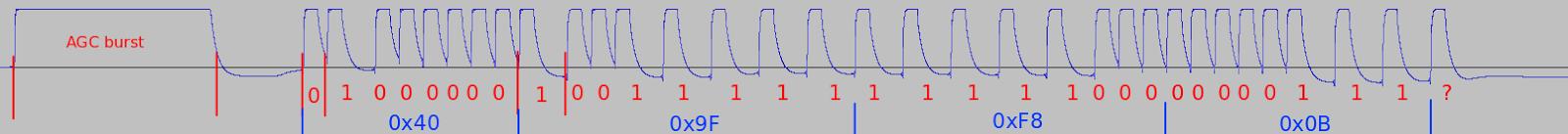 IR analysis and decoding - Audacity screenshot