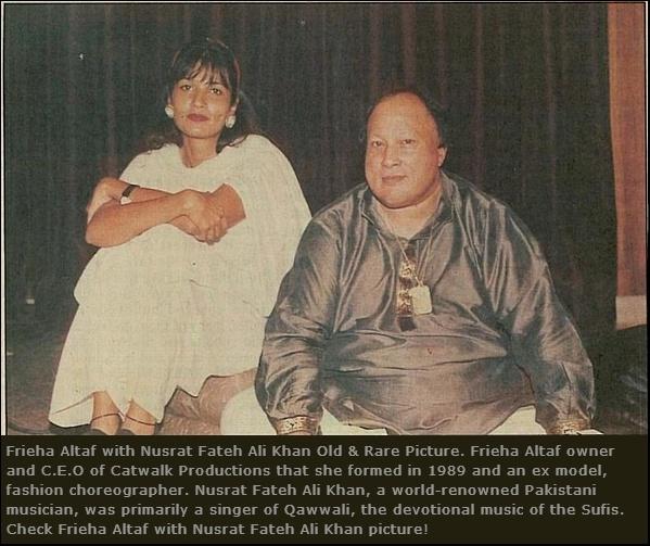 Frieha Altaf with Nusrat Fateh Ali Khan