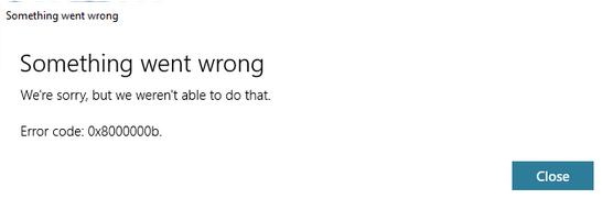 Mengatasi Error Code: 0x8000000b