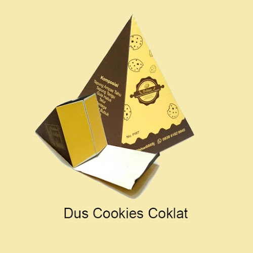 Cetak Dus Cookies Coklat