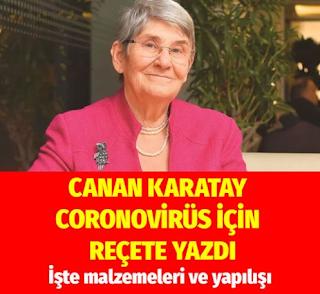 canan karatay korona virüsü