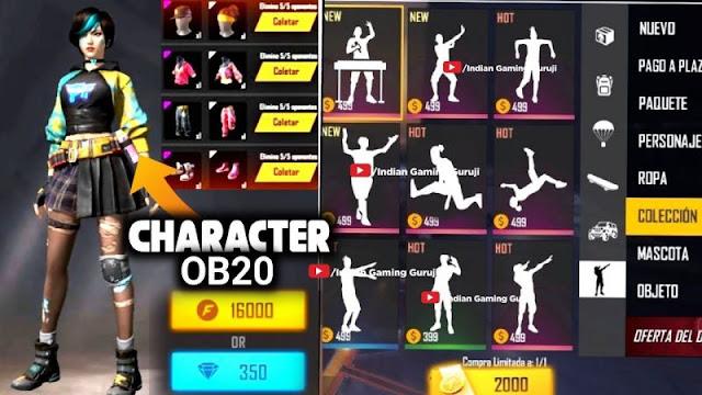 Free Fire: Yeni karakter 'Elite Kelly' Free Fire OB20 Güncellemesine geliyor