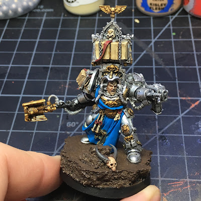 Grey Knights Librarian WIP First session's paint job