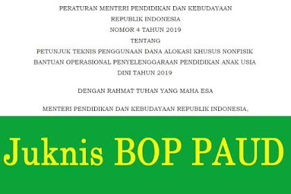 Juknis BOP PAUD Tahun 2019 (Permendikbud Nomor 4 Tahun 2019)