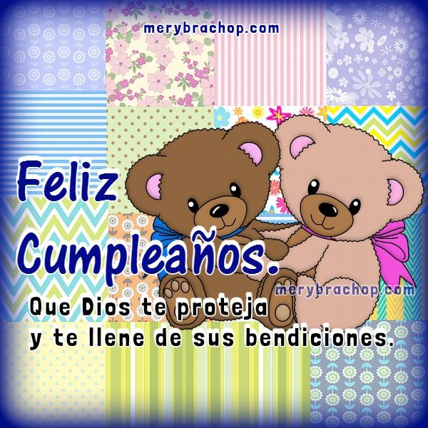 Frases de cumpleaños para hermana, hija, amiga, tarjetas cristianas para saludar en cumpleaños, felicitaciones con bonitas imágenes por Mery Bracho