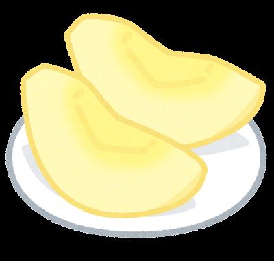 切ったりんごのイラスト