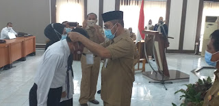 Sekda Provinsì Jambi Secara Resmi Membuka Pelatihan Pembentukan Jabatan Fungsional P2UPD Inspektorat.