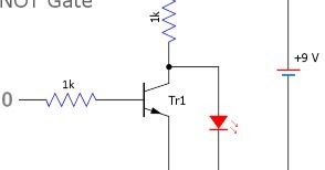 Logic Gates using Transistors and Switches Experiment