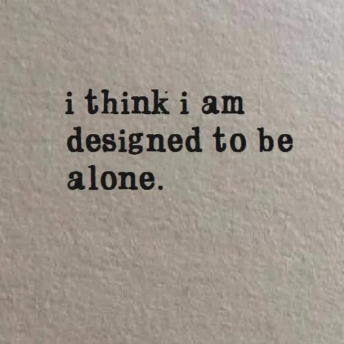 i am designed to be alone DP for boys