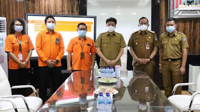 Walikota dan Wakil Walikota Manado Terima Audiense PT Pos manado