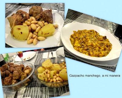 Gazpacho manchego, a mi manera.