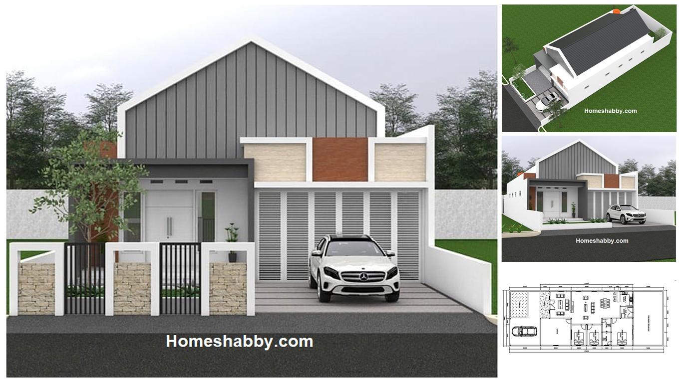 Desain dan Denah Rumah Cantik Ukuran 113 x 113 M, 13 Kamar Tidur +
