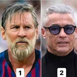 Which Old Man Do you Love Most 1 or 2...#Messi #Ronaldo.
