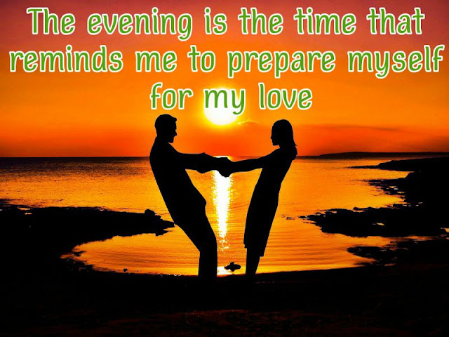 Good Evening Romantic Quotes and Messages