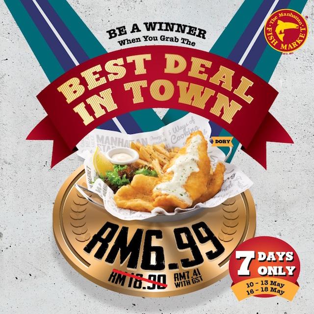 Best Deal in Town Promo @ The Manhattan FISH MARKET