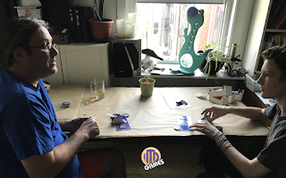 Kurt and Jack play the first print of Medieval Challengersl by ITD Games