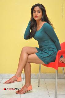 Telugu Actress Prasanthi Stills in Green Short Dress at Swachh Hyderabad Cricket Press Meet  0095.JPG