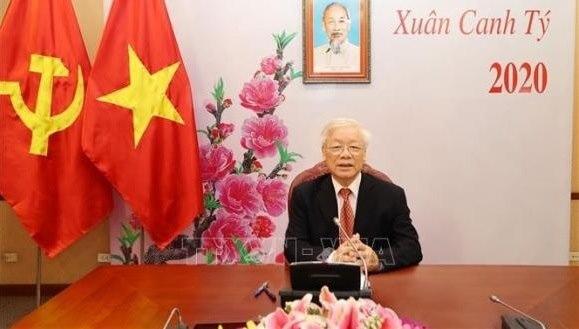 Tổng Bí thư, Chủ tịch nước điện đàm chúc tết ông Tập Cận Bình