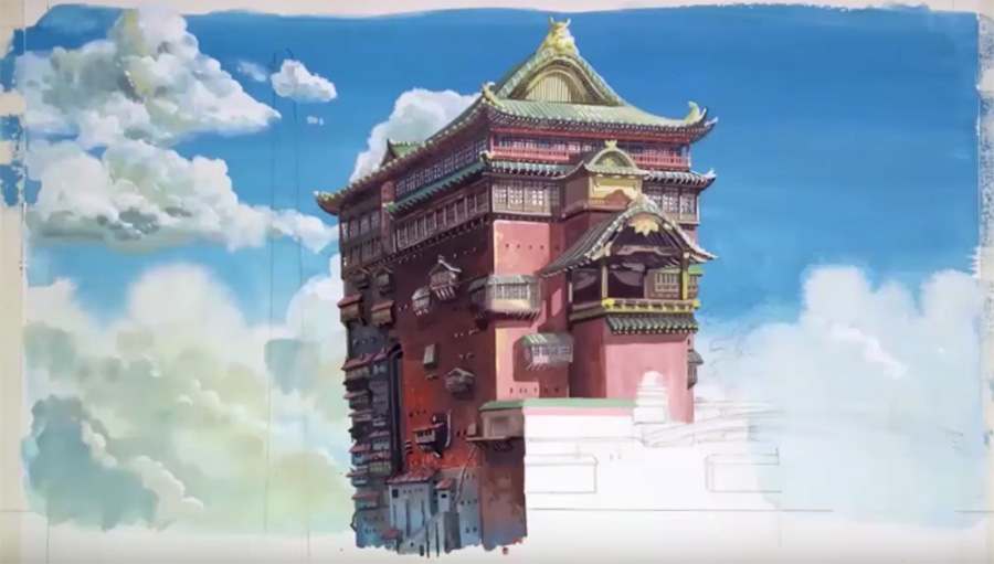 Im Not Sure What Mr Ishiharas Connection Is With Studio Ghibli But His Way Of Painting Seems Fairly Similar To That Masuyama