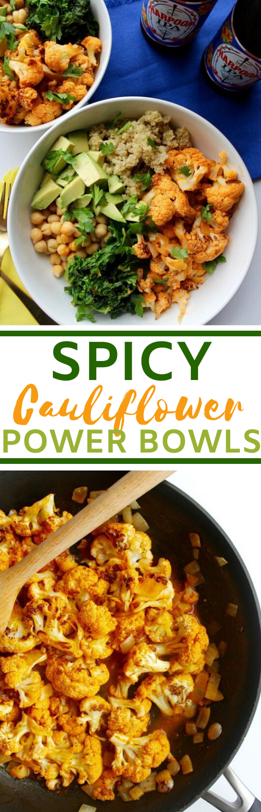 Spicy Cauliflower Power Bowl #vegan #healthy #dinner #plantbased #recipes