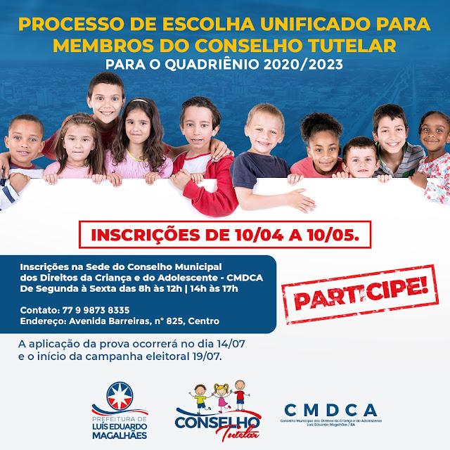 Inscrições para conselheiro tutelar em Luís Eduardo Magalhães vão até 10 de maio