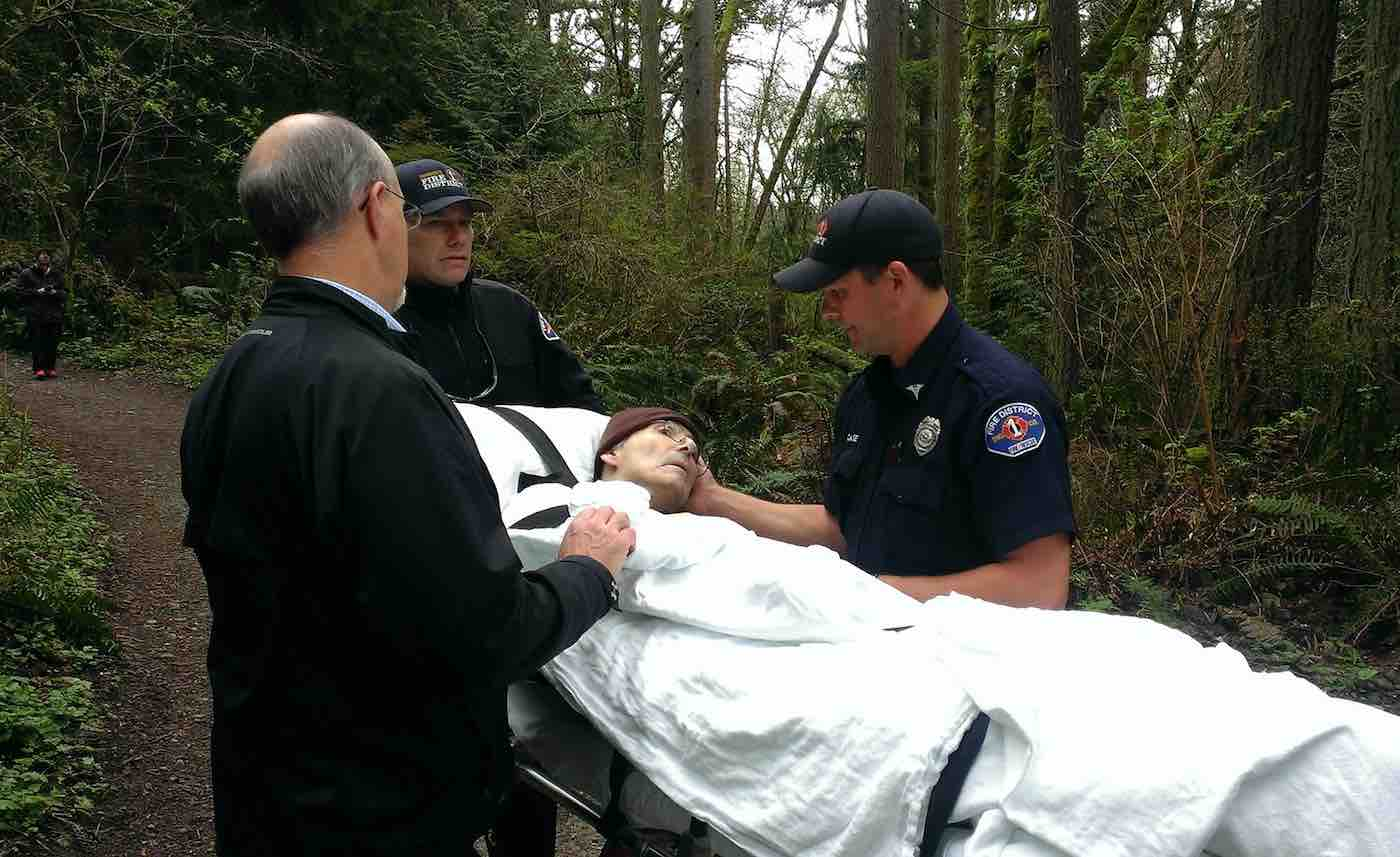 Firefighters Were Carrying Park Ranger's Gurney Through A Forest For Three Hours So That He Could Be In Nature One Last Time