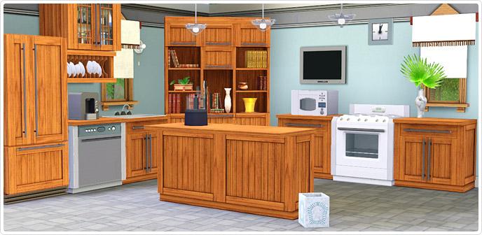 Sims  Bayside Kitchen Set Free Download